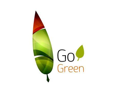 go green logo: Go green abstract nature logo. Vector illustration