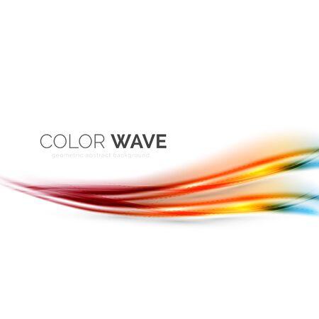 vague couleur élément de dessin vectoriel