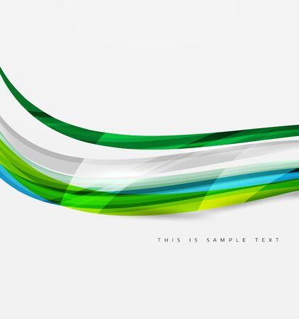 white wave: Rainbow color lines on white. Identity wave element. Vector unievrsal presentation concept Illustration