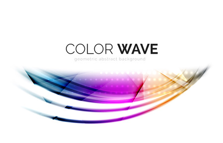 white wave: Glossy wave isolated on white background. Vector modern futuristic curve lines, coporate identity design