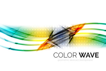 background abstraction: Vector abstract color wave design element
