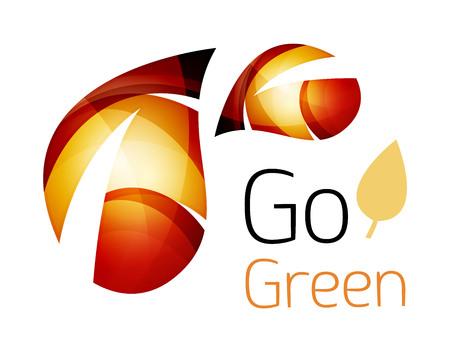 logos de empresas: icono de hoja de resumen. ilustración vectorial