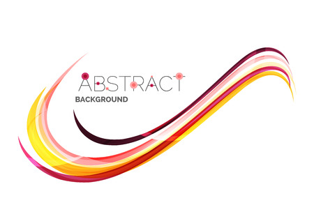 curve line: Color stripes with shiny light effects, wave line abstract background - color curve lines in motion concept and with light and shadow effects. Presentation banner and business card message design template