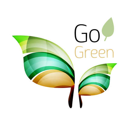 tree world tree service: Go green nature concept. Vector logo leaf