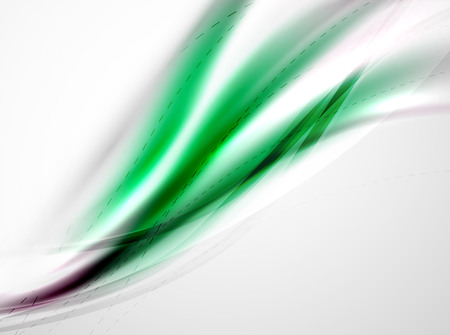 colour in: de color verde futurista en la plantilla de la onda. ilustración vectorial