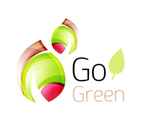 tree world tree service: Go green nature concept. Vector  leaf