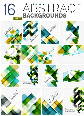 abstract backgrounds: Collection of abstract backgrounds Illustration
