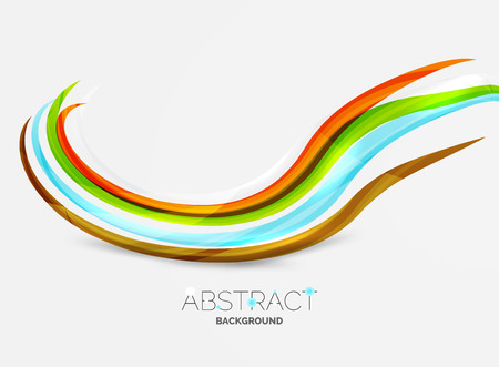 pattern corporate identity orange: Rainbow color lines on white. Identity wave element. Vector unievrsal presentation concept Illustration