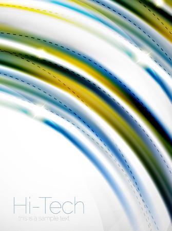 coporate: Glossy wave, coporate business brochure identity vector design