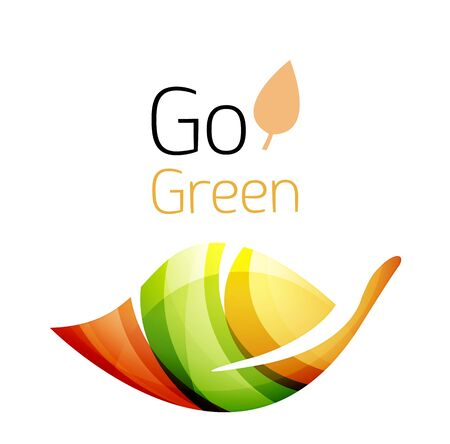 biologic: Go green. Leaf nature concept. Vector icon