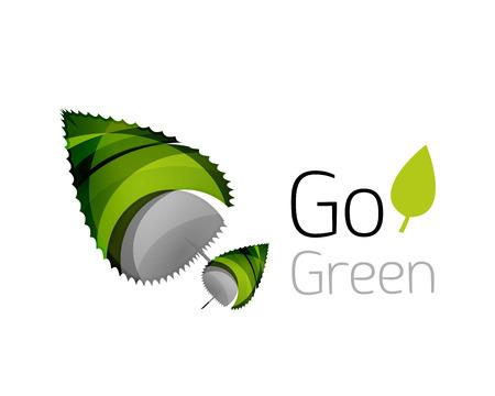 go green logo: Go green logo. Green nature concept. Vector illustration Illustration