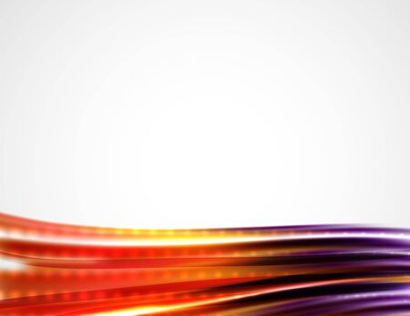 solemn: Shiny metallic wave curtain. Abstract background, vector