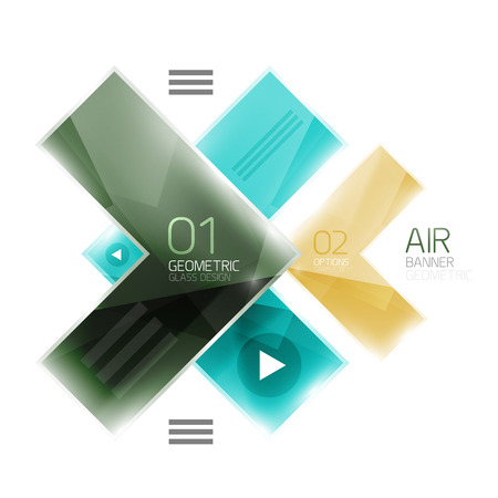inet symbol: Color glossy glass arrow banner. Vector Illustration