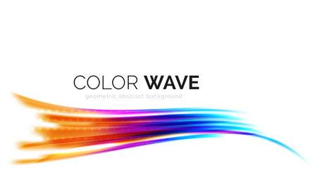 pattern corporate identity orange: Glossy wave isolated on white background. Vector modern futuristic curve lines, coporate identity design