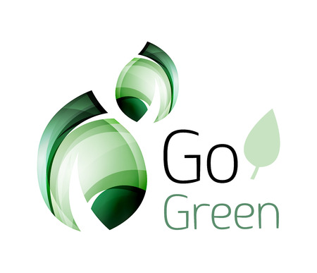 tree world tree service: Go green. Leaf nature concept. Vector icon