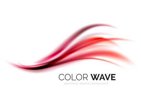 Elemento di disegno dell'onda di colore astratto di vettore