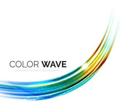 elementos de diseño de vectores de onda borrosas con efectos de luz brillante