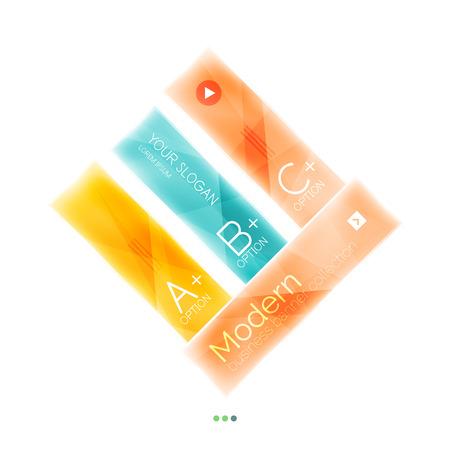 complex navigation: Business stripes geometric infographics box. Abstract geometric infographics layout. Glass modern universal template. Illustration