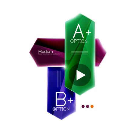 istruzione: Arrow infographics. Vector business colorful element of presentation Vettoriali