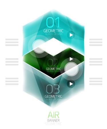 light  glossy: Air light glossy design of arrows. Web info box or ui menu element. Vector