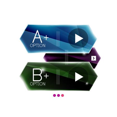 Pijl infographics. Vector bedrijfs kleurrijk element van presentatie Vector Illustratie