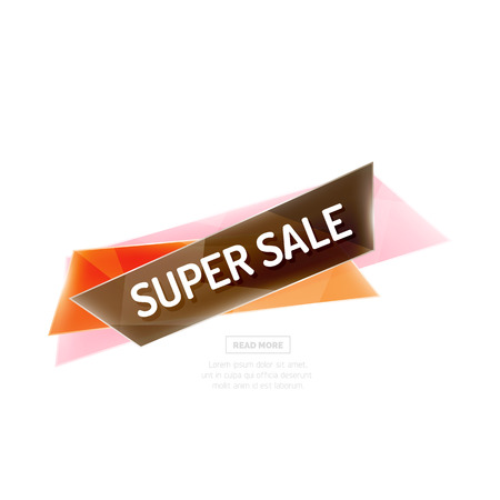 best ad: Colorful geometric website sale tag button. Vector universal internet banner Illustration
