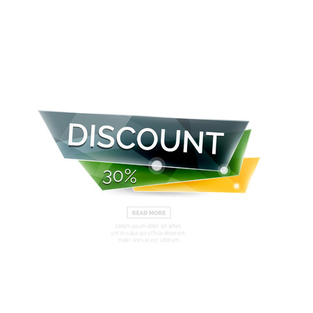 clean off: Colorful geometric website sale tag button. Vector universal internet banner Illustration