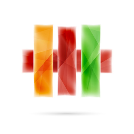 blank banner: Blank colorful stripes. Business geometric style infographics background. Vector illustration Illustration