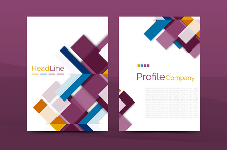 abstract template: Color business brochure cover vector template, annual report front page, A4 size, leaflet abstract background, magazine design, flyer layout
