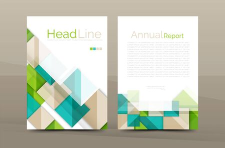 brochure cover design: 3d geometric shapes design a4 cover. Vector business corporate brochure identity template Illustration
