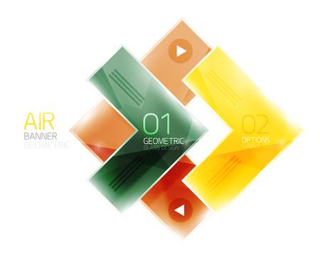 inet symbol: Color glossy glass arrow banner. Vector Illustration