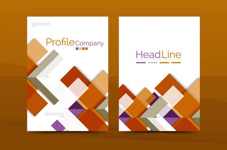 datebook: Geometric a4 front page, business annual report print template, Correspondence letter with corporate identity design