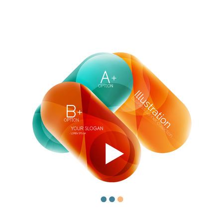 capsule: Capsule business option infographics. Vector presentation element