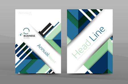 abstract template: Cover design of annual report cover brochure, Vector modern abstract background template, layout A4 size page