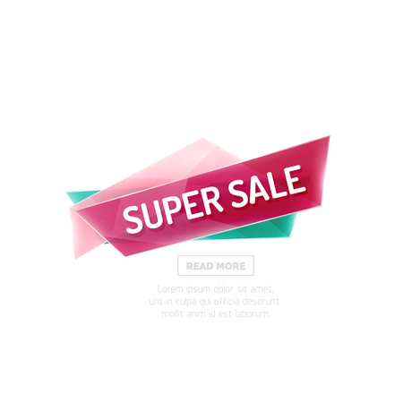 best ad: Vector colorful sale banner for promotion or ad. Geometric style vector illustration