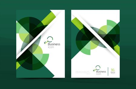 abstract template: Design of annual report cover brochure, flyer template layout, vector leaflet abstract background, A4 size page