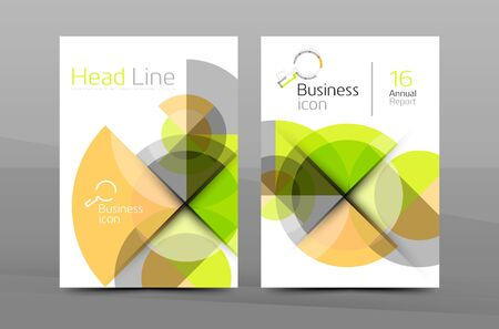 page background: Cover design of annual report cover brochure, Vector modern abstract background template, layout A4 size page