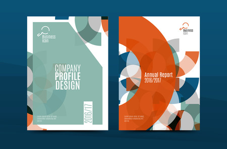 blank banner: Geometric mosaic design, a4 size business corporate correspondence letter cover. Leaflet, annual report identity template