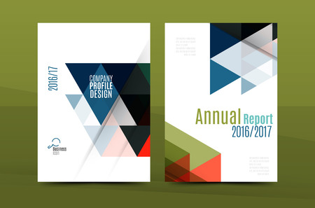 booklet design: Geometric mosaic design, a4 size business corporate correspondence letter cover. Leaflet, annual report identity template