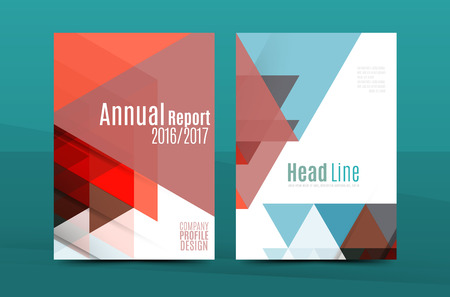 personal ornaments: Geometric mosaic design, a4 size business corporate correspondence letter cover. Leaflet, annual report identity template