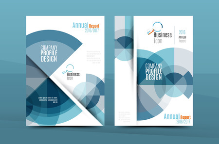 proposal: Colorful fresh business A4 cover template - flyer, brochure, book cover and annual report. Geometric design abstract background