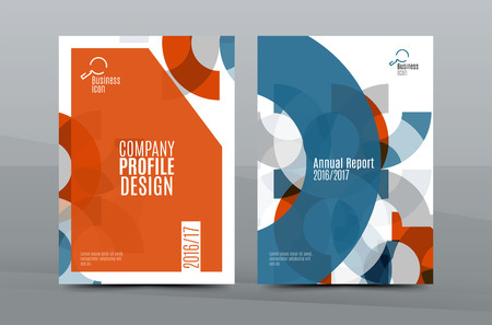 business graphics: Colorful fresh business A4 cover template - flyer, brochure, book cover and annual report. Geometric design abstract background