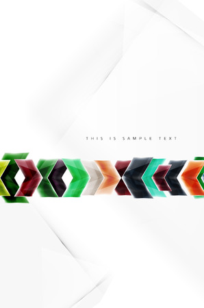 3 point perspective: Glass glossy arrow motion background. Vector web brochure, internet flyer, wallpaper or cover poster design.