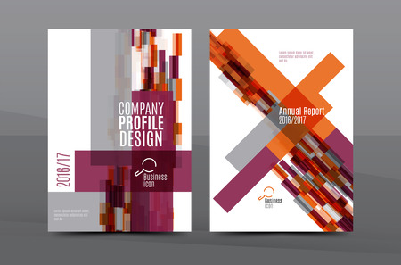 Colorful fresh business A4 cover template - flyer, brochure, book cover and annual report. Geometric design abstract background