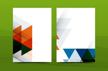 portadas de libros: diseño del mosaico geométrico, cubierta carta de la correspondencia de negocios corporativos de tamaño A4. Prospecto, informe anual plantilla de identidad Vectores
