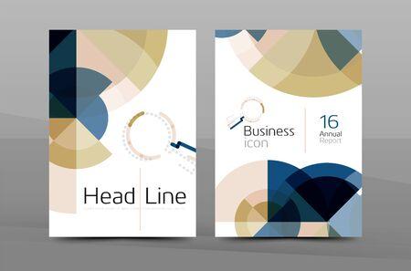 A4 couverture du rapport annuel. livre de présentation ou de couverture de magazine, brochure entreprise mise en page
