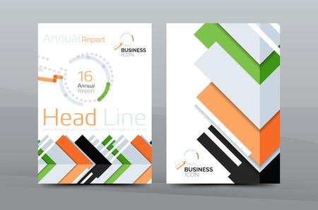 Conception de page de couverture d'entreprise, mise en page de dépliant de brochure, affiche de fond de présentation abstraite, format A4