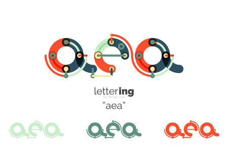 initial: Linear initial letters Illustration