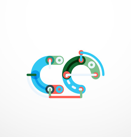 Colorful funny cartoon letter icon. Business icon design