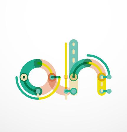 Kleurrijke grappige cartoon letter icon. Business pictogram ontwerp